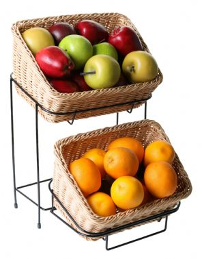 Rectangular Basket Stand Set